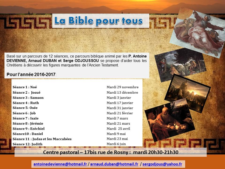 Bible Pour Tous 2016 2017